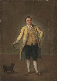 portrait of a gentleman with a dog by pietro longhi