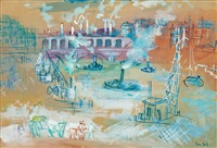 paris, viaduc du point-du-jour by jean dufy