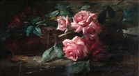nature morte aux roses by frans mortelmans