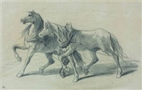 deux chevaux (study) by théodore valerio