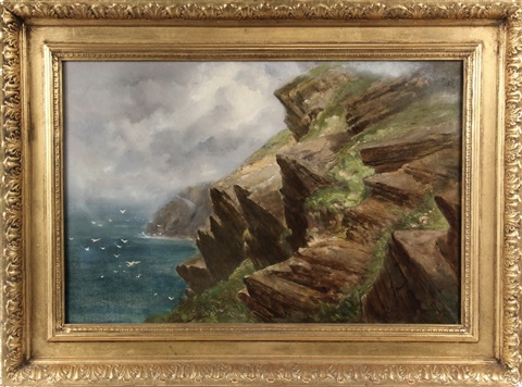 below burnt head monhegan island maine by alfred thompson bricher