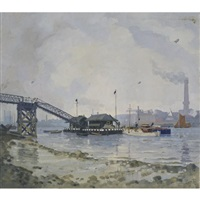 thames view with coal ladder by don louis perceval