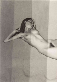 test strip for nude on sand, oceano by edward weston