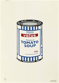 soup can - original coulourway by banksy