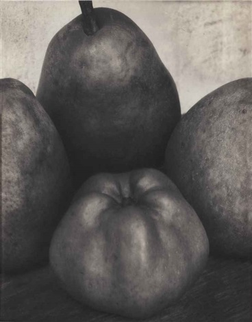 three pears and apple by edward steichen