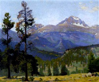 long's peak from high drive, near estes park, colorado by ferdinand kaufmann
