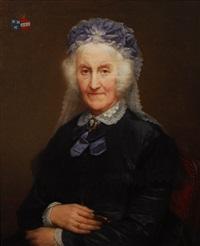 portrait armorié d´une dame de qualité by nicaise de keyser