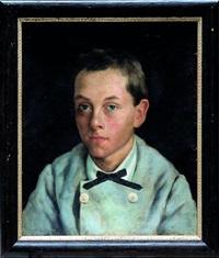portrait en buste d'un jeune garçon by mariya konstantinova bashkirtseva