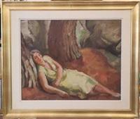 la sieste by charles alexandre picart le doux