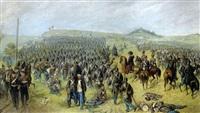 der sturm der österreicher auf den kapellenberg in dem gefecht bei trautenau am 27. juni 1866 by adolf zrdazila