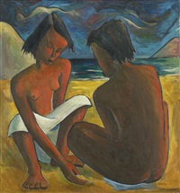 untitled (two women) by angel botello