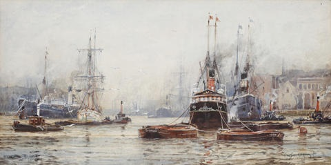 blackwall reach london by frederick william scarborough