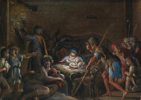 adoration of the shepherds by annibale carracci