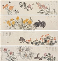 drunken flowers (+ 3 others; 4 works) by luo yuxin