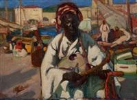 le musicien du port by alfred dabat