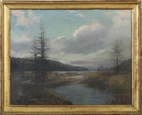 autumn view along the hudson by bayard henry tyler