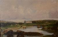 le château d'eu et son parc, vus du cote du treport by victor marie felix danvin