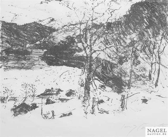 der bergsee from vorfrühling in den bergen by lovis corinth