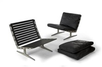 pair of caravelle system lounge chairs by paul leidersdorff