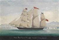 schooner bork lavinia, p. langlois commander, entering smyrna by raffaele corsini