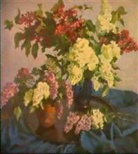 les lilas et la tasse de the by piotr guerguilenko