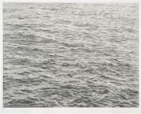 ocean with cross 1 by vija celmins