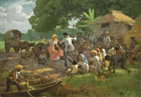 the tinikling dance by fernando cueto amorsolo