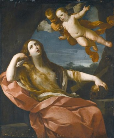 the penitent magdalene by guido reni