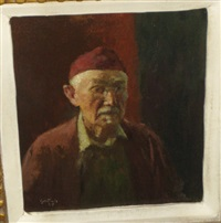 red skull cap by gustave f. goetsch
