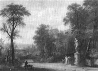 figures in the park by louis gadbois