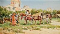 les marchands d'ânes by mariano obiols delgado