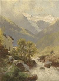 gebirgsmotiv by leopold heinrich vöscher