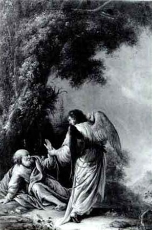 elijah visited by the angel by willem bartsius
