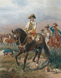 feldmarschall ernst gidon freiherr von laudon in uniform zu pferd (after sigmund l'allemand) by karl götz