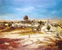 le dôme du rocher à jérusalem by jean-augustin renard