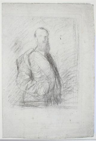 skizze knickstückbildnis eine mannes by franz seraph von lenbach