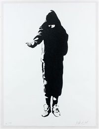 beggar - homeless by blek le rat