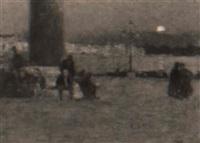 ultimi riflessi sulla piazza san marco a venezia by cesare vianello