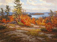 lake muskoka (from blueberry hill) by john barrie rennie