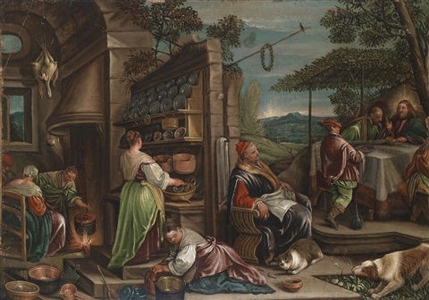 das gastmahl zu emmaus by jacopo dal ponte and francesco bassano