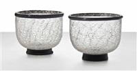 two primavera bowls by ercole barovier