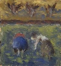 due contadini by ottone rosai