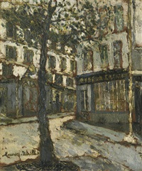 place des abbesses by maurice utrillo