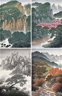 春夏秋冬 (4 works) by tang zhixin