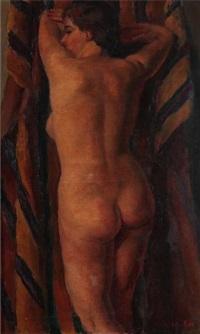 femme nue étendue by louis adolphe riou