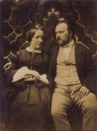 couple devant une tapisserie by jean baptiste frénet