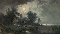 nacht am chiemsee by ludwig sckell
