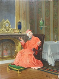 cardinal au perroquet by alfred charles weber