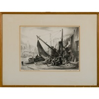 shipyard scene by charles wheeler locke