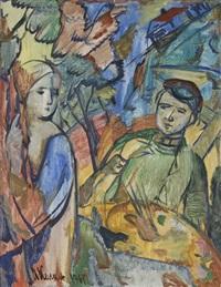 peintre et son modèle by ilya kagan